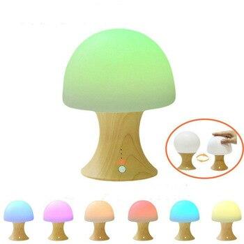 Multicolor LED Night Lamp, Silicone Light Ball and Mushroom Variable Appearance, Baby/Kids Mushroom Night Light Table Desk Lamp pro svet light led mushroom