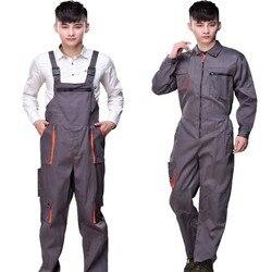العمل وزرة الرجال النساء معطف واقي مصلح حزام حللا بنطلون العمل الزي الرسمي حجم كبير أكمام المآزر
