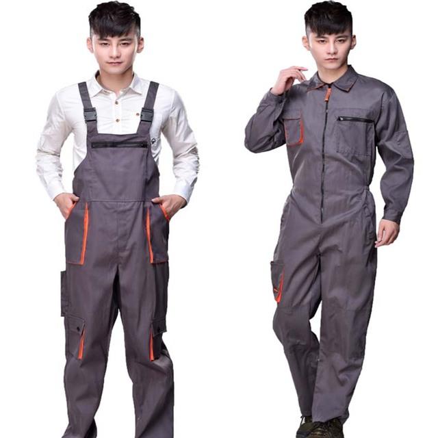 Homens mulheres cinta reparador de proteção coverall macacões calças macacões de trabalho uniformes de trabalho Plus Size macacões sem mangas