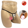 Cotton men's underwear low waist sexy temptation transparent butterfly live mini thong T pants jockstrap	gay underwear
