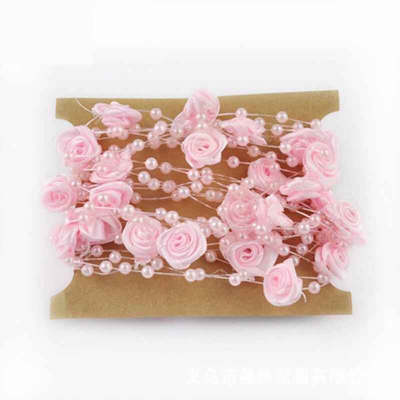 4 мм Бусины цветок 5 м/уп. Рыбалка линии искусственный жемчуг Бусины цепочку для гирлянды цветов Свадебная вечеринка украшения