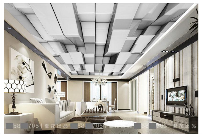 Customized 3d photo wallpaper 3d ceiling wallpaper murals for Three d wallpaper