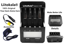 Liitokala Lii-500 Lii500 Display LCD 18650 Carregador de Bateria Para 18650/26650/16340/A/AA/AAA/Ni-MH/Ni-Cd Baterias Recarregáveis