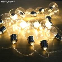 Купить с кэшбэком Feimefeiyou 10/20 led bulb battery and USB style fairy tale decorative string for wedding outdoor garden garland decoration