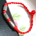 DIY Golden and slivery plating alloy Red rope bracelets  YS26331