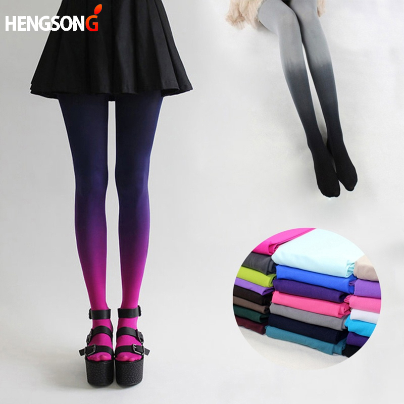Ladies Hosiery Tights Women Sexy Fashion 120D Elastic Hosiery Slim Tights Gradient Colors Tights 829302