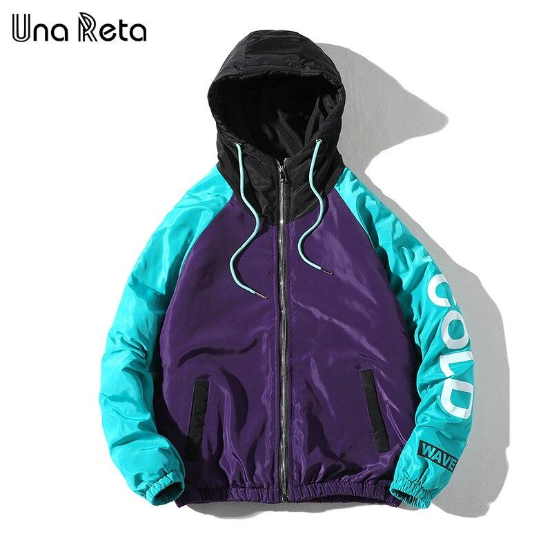 Una Reta Jacket Coats Men 2019 New Arrivals Casual Hooded Jackets Mens Fashion Loose Overcoat Hip hop Printing   Parka   Coat
