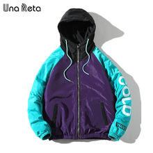 Una Reta Jacket Coats Men 2020 New Arrivals Casual Hooded Jackets Mens Fashion Loose Overcoat Hip hop Printing Parka Coat