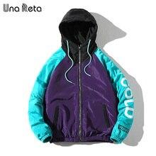 Una Reta ceket palto erkekler 2020 yeni gelenler Casual kapşonlu ceketler erkek moda gevşek palto Hip hop baskı Parka ceket