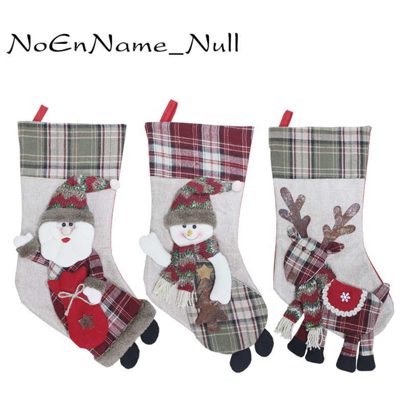 Christmas Stocking Xmas Decorations Children Gift Candy