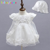 babzapleume 3PCS/3 12Months/summer newborn baby girls 1 year birthday dresses infant christening gown party wedding dress BC1525