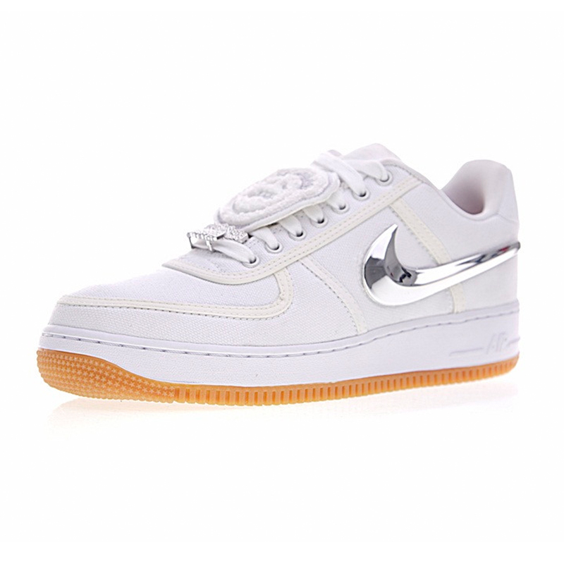 niska cena Stany Zjednoczone kupuję teraz Nike Air Force 1 Low Travis Scott Women Skateboarding Shoes,Women Outdoor  Sneakers Comfortable Shoes,White Color AQ4211-100