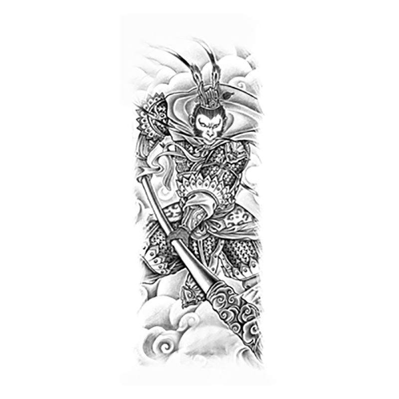 Chinese Tattoo Designs 2016 Popular Monkey King Large Temporary Tattoos Body Art For Whole Arm Free Shipping Temporary Tattoos Body Art Body Artchinese Tattoo Aliexpress