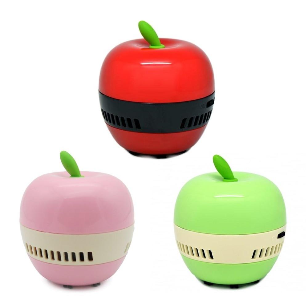 Мини форму яблока Desktop Кофе Таблица Пылесосы для автомобиля пылесборник для Офис Ручной Клавиатура пылесос развертки