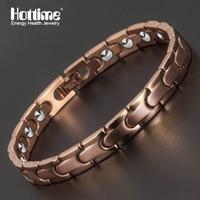 Hottime Magnetic Full Health Care Bracelet Full 99 9999 Germanium Bracelet For Women 316L Stainless Steel