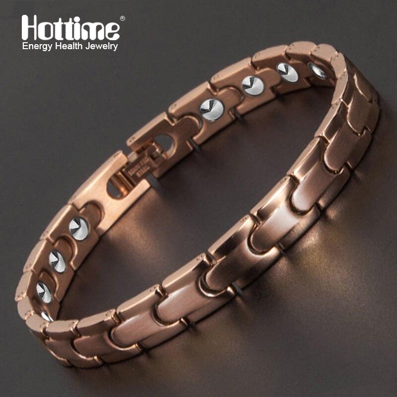 Hottime Magnétique des Soins médicaux Complets Bracelet Plein 99.9999% Germanium Bracelet Pour Femmes En Acier Inoxydable 316L Bracelets Bracelets-in Bracelets ficelle et chaîne from Bijoux et Accessoires    1