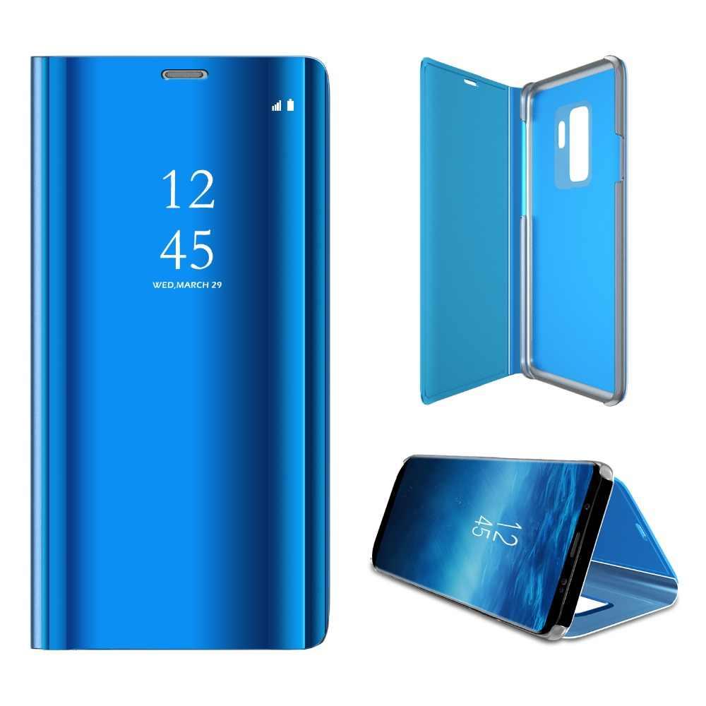 finest selection 88efa 188c3 Mirror Flip Cover Case For Samsung Galaxy J2 Pro J3 J7 J8 2018 Smart  Leather Case For Samsung Galaxy J4 J6 Plus Prime Case