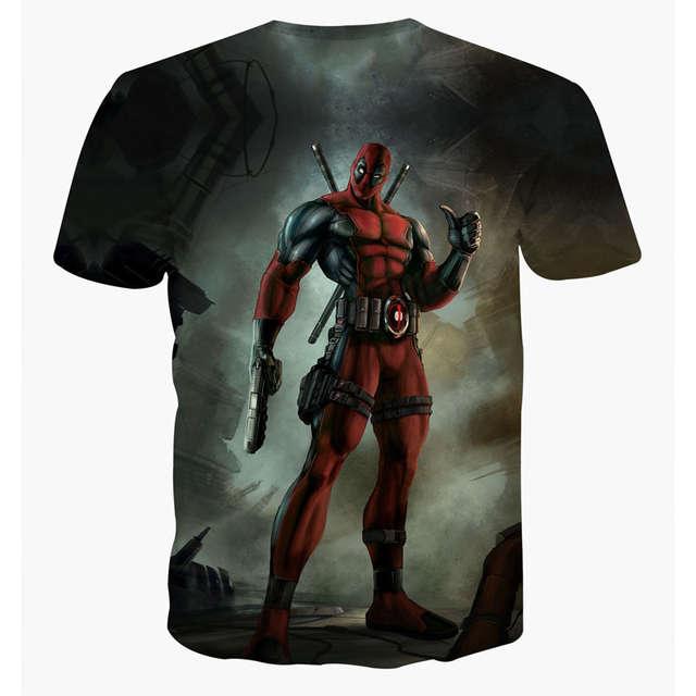 ed25593b Online Shop New Arrive American Comic Badass Deadpool T-Shirt Tees Men  Women Cartoon Characters 3d t shirt Funny t shirts Casual tee shirts |  Aliexpress ...