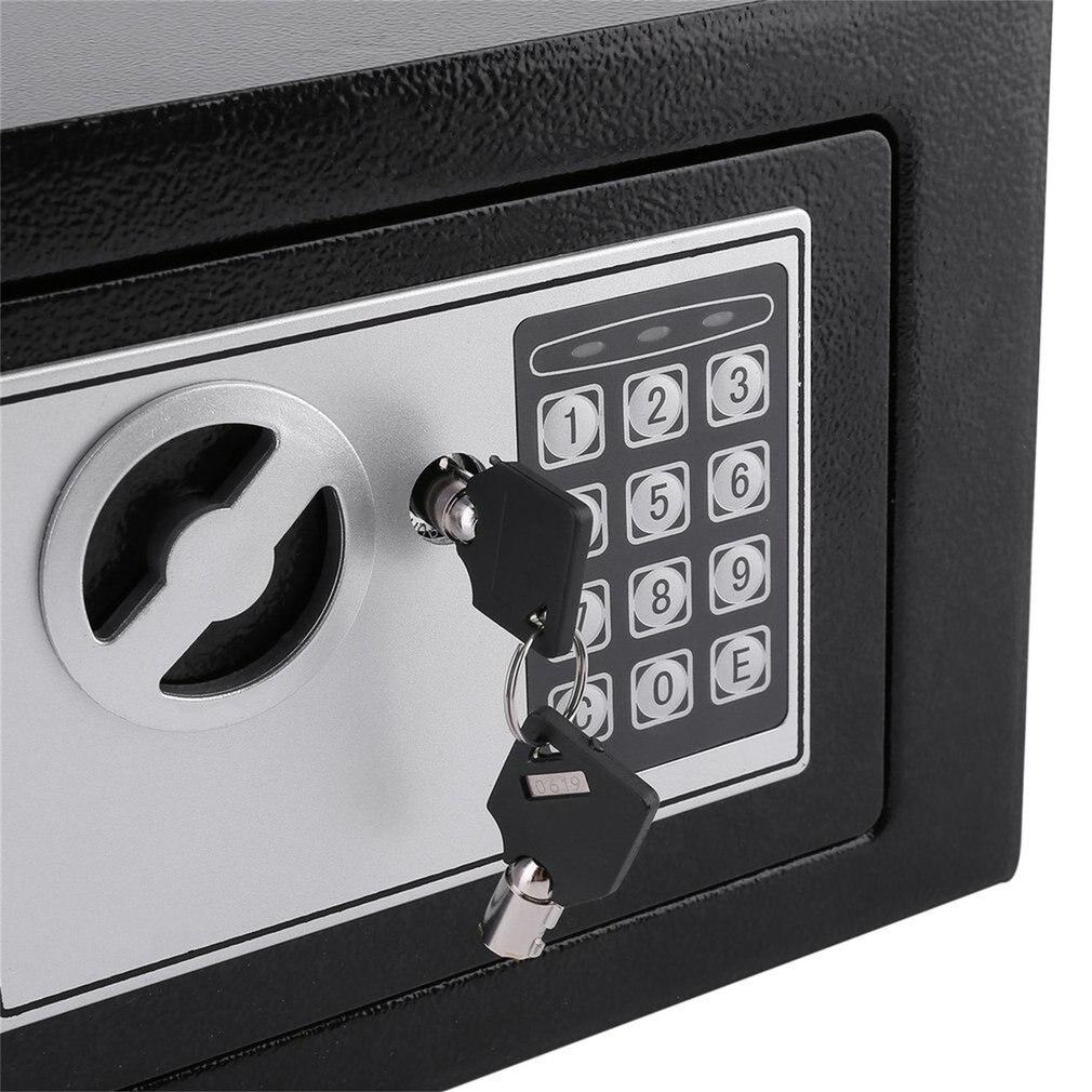Coffre-fort électronique en acier massif avec serrure à clavier numérique 4.6L Mini mallette de rangement verrouillable pour bijoux coffre-fort - 5