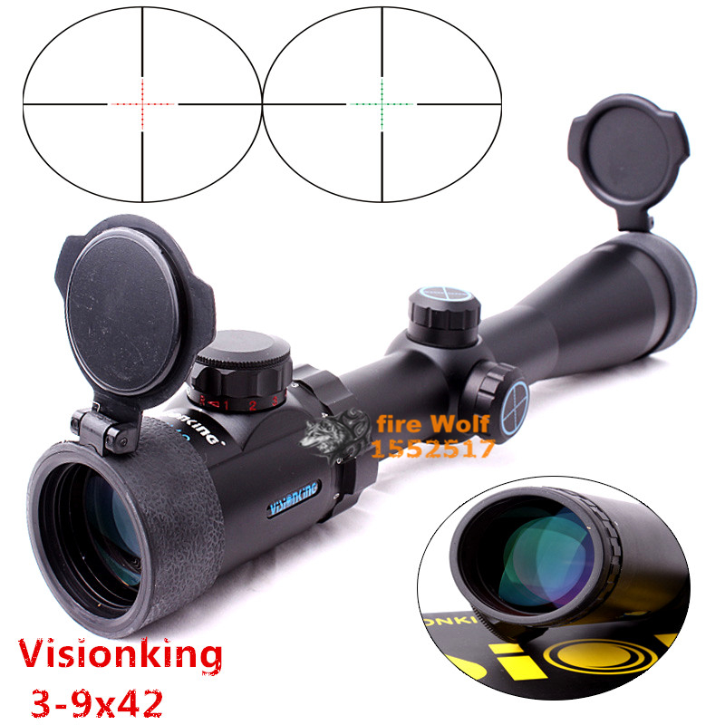 Free Shipping Visionking Opitcs 3-9x42 rifle scope Mil dot Tactical Hunting Long eye relief military Sight 30mm for AR15  M4 tactical 3 9x50 mil dot rifle scope for hunting high quality free shipping