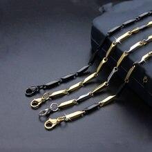 Moda titânio aço melão sementes de aço inoxidável colar jóias casal modelos elegante preto colar venda quente