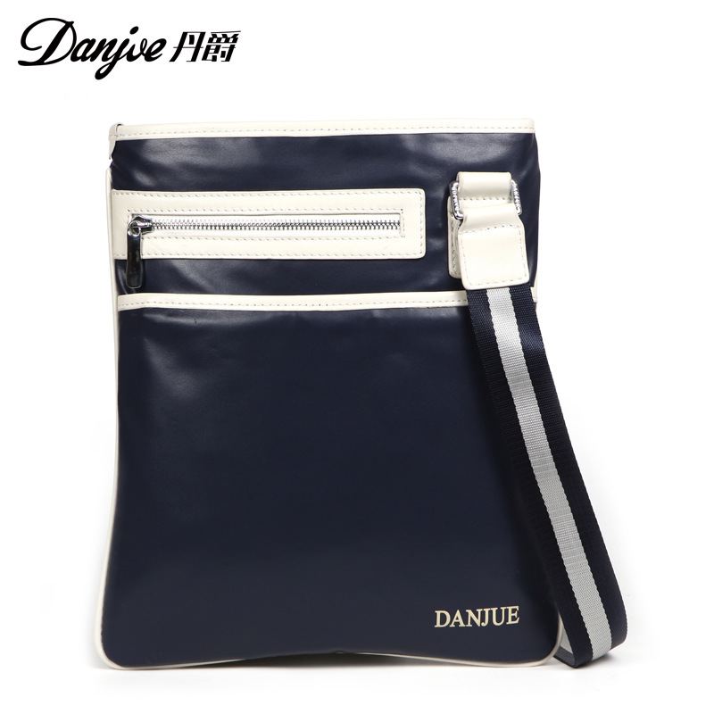 DANJUE Fashion Male Sling Bag Genuine Leather Men Chest Bags Daily Brand Real Leather Back Pack Small Messenger Daypack Man danjue brand men chest bags real genuine leather male messenger bag casual fashion highquality big capacity travel crossbody bag