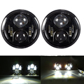 """2PC Black 7 Inch Round Headlight For Jeep Wrangler 97-15 7"""" LED Headlight Headlamp With H4 High Low For Hummer Toyota Land Rover"""