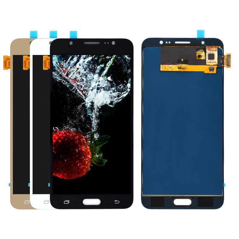 ปรับความสว่าง LCD สำหรับ Samsung Galaxy J7 2016 J710 J710FN J710F J710M J710Y J710G J710H Touch Screen Digitizer Assembly