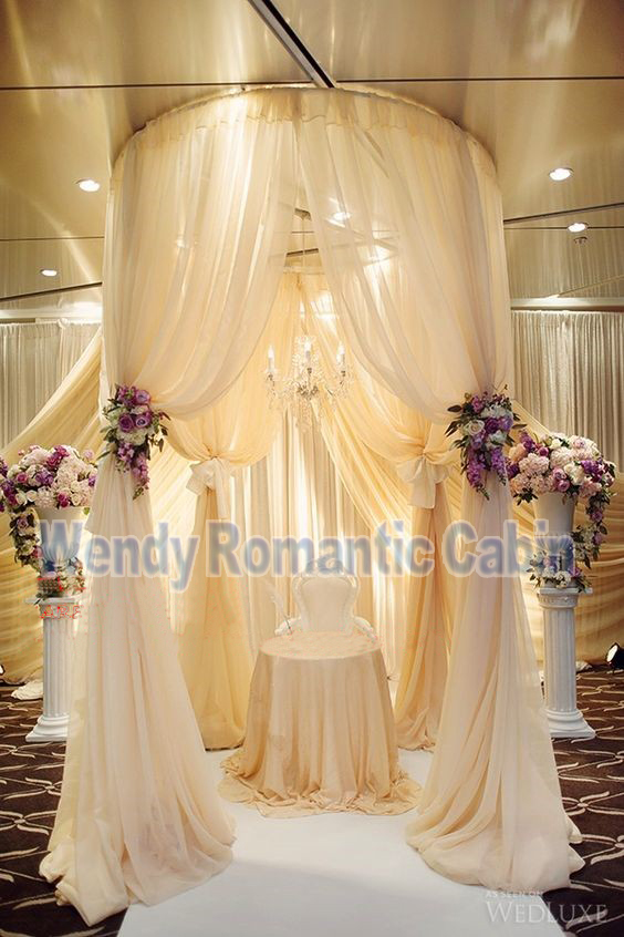 3 M de hauteur par 2 M de diamètre cercle Rould support de tuyau de mariage pavillon de mariage pour arc de mariage, chuppah, support de rideau en toile de fond