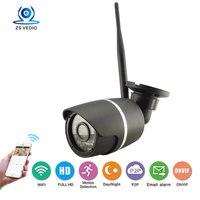 HD 1080p Wifi Camera Bullet Ip Camera Wireless Cctv Onvif P2p Waterproof Night Vision Security Camera