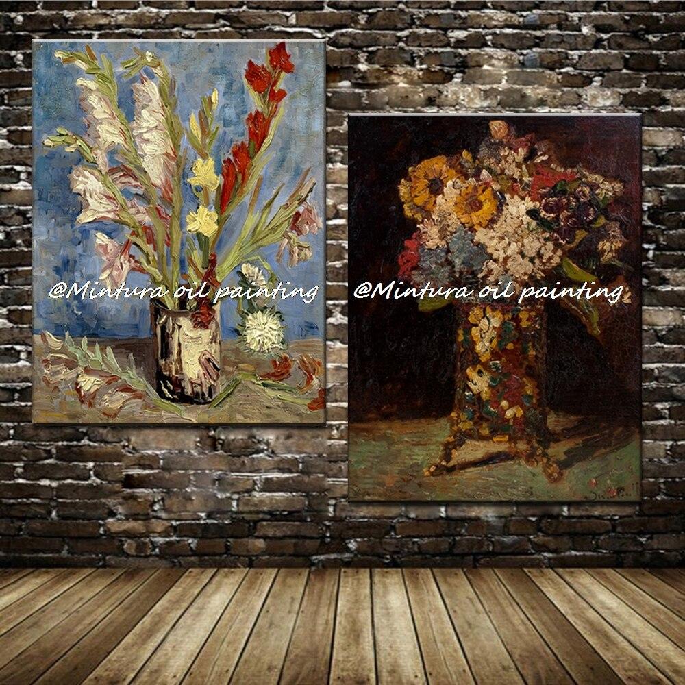 Современные Украшения Дома 100% Расписанную Винсент Ван Гог Цветок Живопись Маслом На Холсте Wall Art Репродукция Шедевр