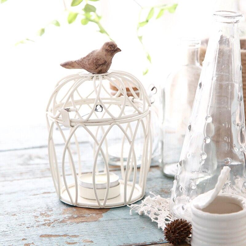 Creative fer forgé rétro oiseau Cage décoration ornements maison salon chambre bougeoir de mariage décoration fournitures