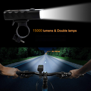 Image 5 - LED Flashlight 2/3*T6 Bicycle Light Built in 5200mAh Battery USB Rechargeable Front Cycling Flashlights with Taillight Gift