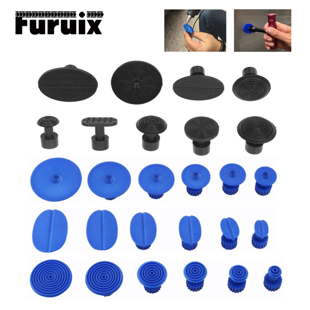 ABS Glue Tabs  PDR Tools Paintless Dent Repair Tools Glue Tabs Fungus Suction Cup Suckers Dent Removal Use With Glue Puller