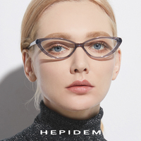 Acetate Cat Eye Glasses Frame Women Brand Designer Transparent Spectacles Eyewear Woman Myopia Optical Prescription Eyeglasses