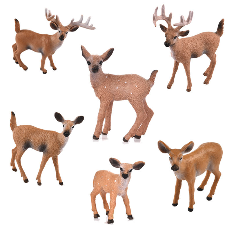 1pcs Artificial Mini Sika Deer Animal Miniature Figurines Toys Fairy Garden Miniatures Home Decor Gift For Kids