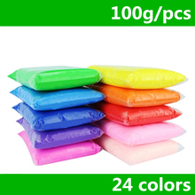 Retail 100g / bag 24 colores DIY seguro y no tóxico Malleable Fimo arcilla de polímero plastilina Soft Power juguetes
