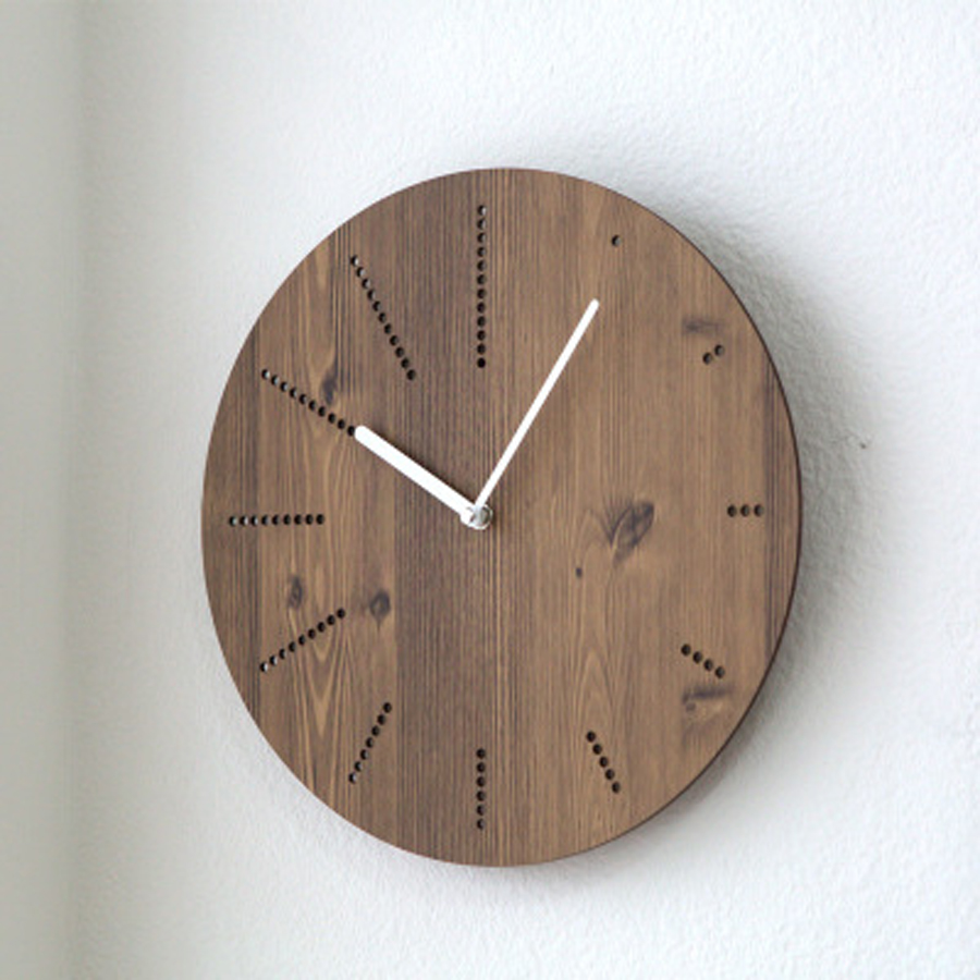 Wooden Wall Clock Modern Design For Living Room Nordic Brief Hanging