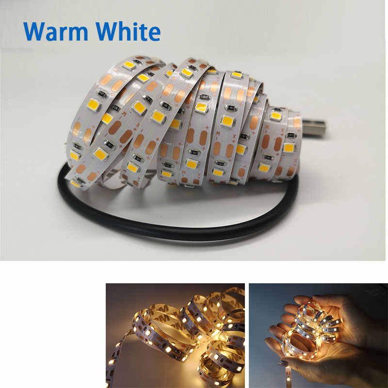 USB LED Lampu Strip TV Lampu RGB 5 V 6 V SMD 3528 Kabel USB Power 50 CM 1 M 2 M 3 M 4 M 5 M Natal Lampu Tape TV Pencahayaan Latar Belakang