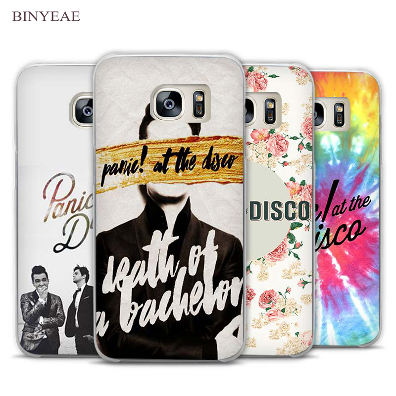 BINYEAE Panic At The Disco cool man Clear Phone Case Cover for Samsung Galaxy Note 2 3 4 5 7 S3 S4 S5 Mini S6 S7 S8 Edge Plus