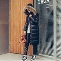 2016 casaco de inverno mulheres para baixo casaco jaqueta verdadeira pele de Guaxinim jaqueta feminina mujer Negro cor down jacket feminino manteau parka