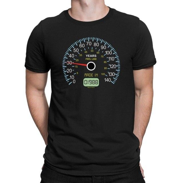 Erkek Hız Göstergesi 30Th Doğum Günü T-Shirt 30 Yıl Boyunca 1988 Komik Hediye Şaka 2019 Yaz T Gömlek O-boyun Moda Rahat yüksek