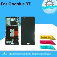M & Sen Para Oneplus 3 T A3010 pantalla LCD + el panel de Tacto Digitalizador con marco Negro/Blanco envío gratis