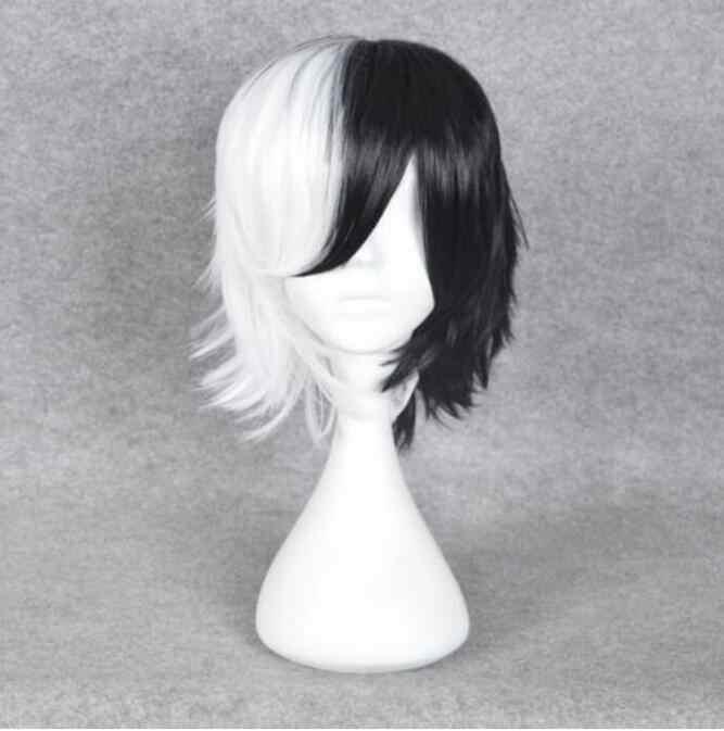 Yu Wig Madame Wig Cruella De Ville Ada 101 Dalmations Wig Wig Kostum Aksesoris Gratis Pengiriman