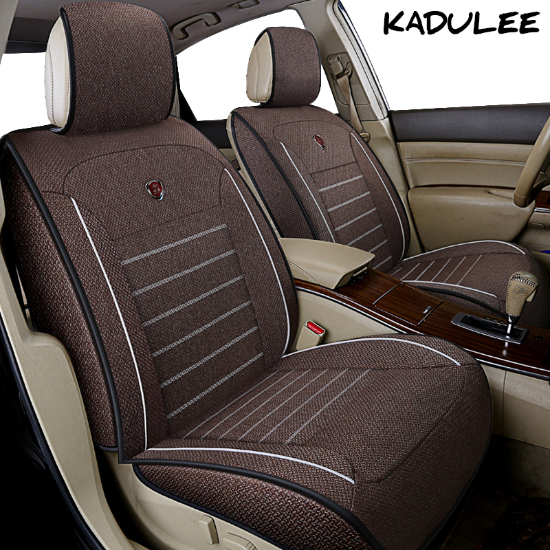 KADULEE flax car seat cover for skoda octavia a5 a7 1 2 fabia karoq superb kodiaq smart fortwo Auto accessories car-styling universal car seat covers for skoda octavia 2 rapid fabia 2 octavia a5 octavia a7 front and rear auto accessories cars styling