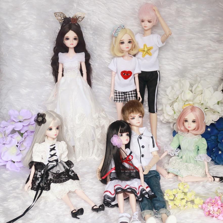 1/6 30 cm pas cher blyth bjd poupée modèle de mode bricolage jouet haute fille cadeau poupée avec des vêtements maquillage chaussures perruques corps tête