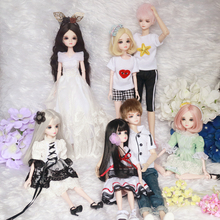 цены на 1/6 30cm cheap blyth bjd doll fashion model diy toy high girl gift doll with clothes make up shoes wigs body head в интернет-магазинах