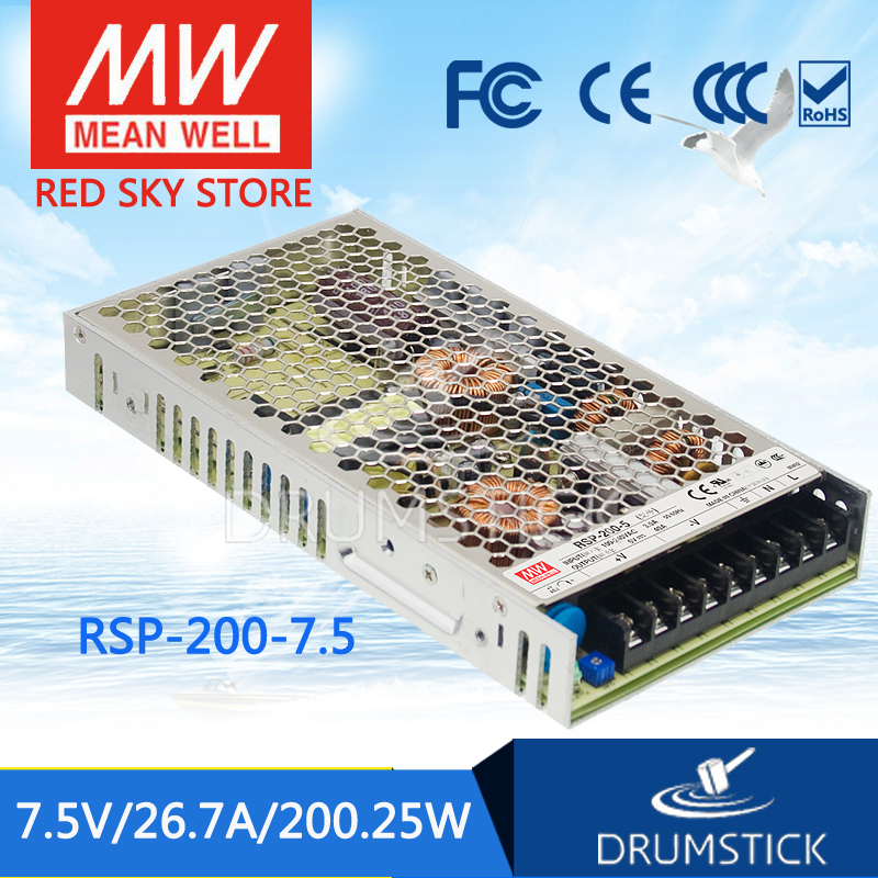 все цены на  best-selling MEAN WELL RSP-200-7.5 7.5V 26.7A meanwell RSP-200 7.5V 200.25W Single Output with PFC Function Power Supply  онлайн