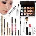 Cheapest Makeup Set Lips 15 Colors Concealer Palette Kit Lip Gloss Eyeliner Eyebrow Mascara Make Up Brushes Cosmetic Tools