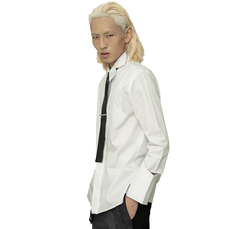 5xl Fente Mode D'origine Costumes Lâche Vêtements Hommes Manchette Taille Bigbang Plus La Blanc 2018 S Styliste Cheveux Chanteur De Nouveau Chemise dOvwqHxnz